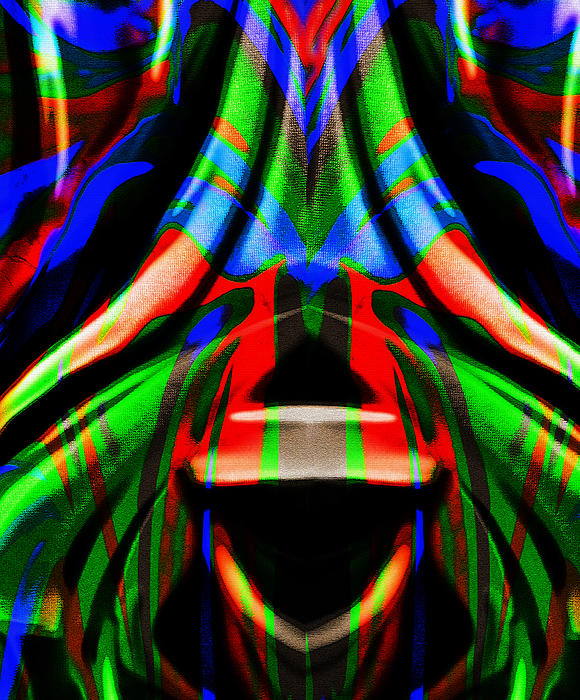 Funky Abstract Print by Paul St George