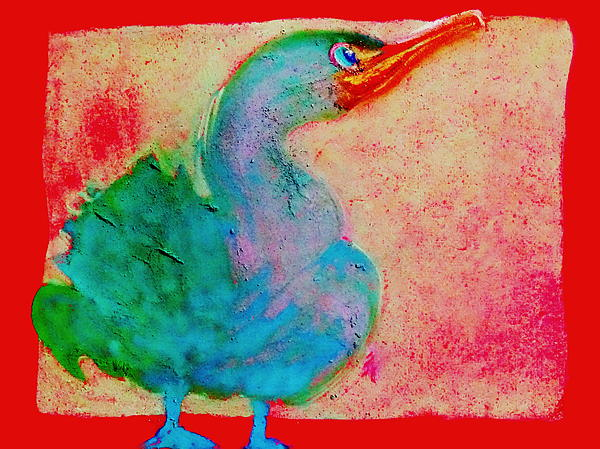 Sue Jacobi - Funky Cute Cormorant Baby Bird Art Prints