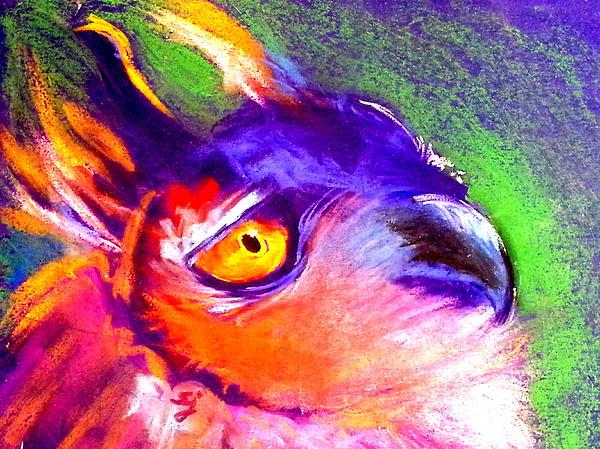 Sue Jacobi - Funky European Eagle Owl Art Print