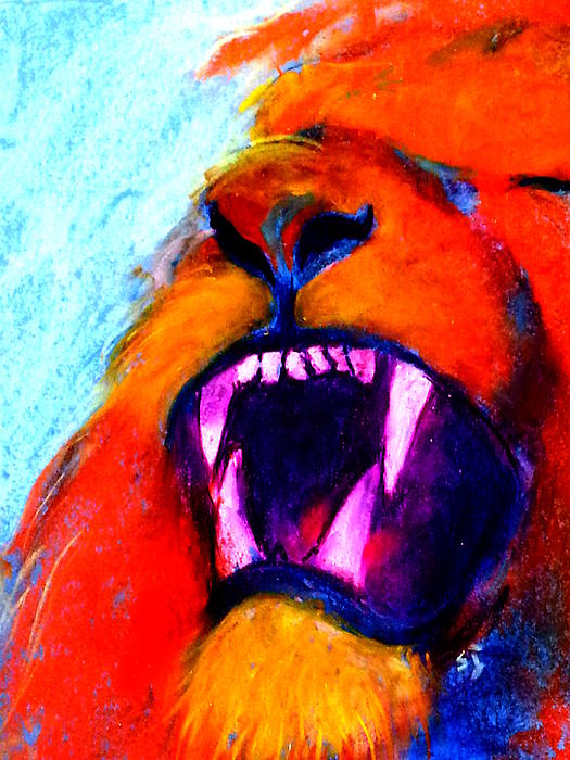 Sue Jacobi - Funky Lion Roaring Jungle King