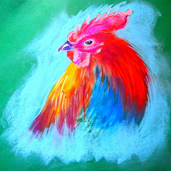 Sue Jacobi - Funky Rooster Art Print