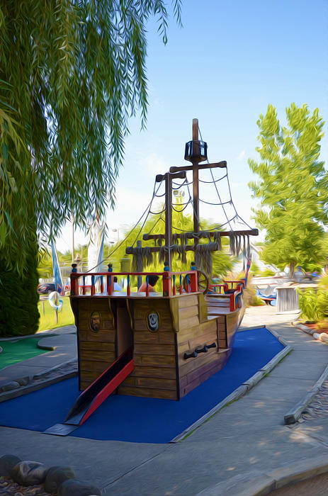 Funplex Funpark Boat 9 Print by Lanjee Chee