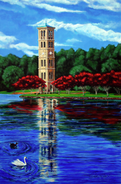 Furman Tower Print by Andrew Wells
