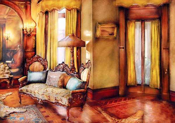 Furniture - Chair - The Queens Parlor Print by Mike Savad