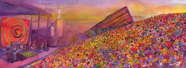 Furthur At Redrocks 2011 Print by David Sockrider