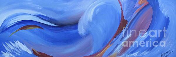 Fury Of The Sea Print by Barbara Petersen