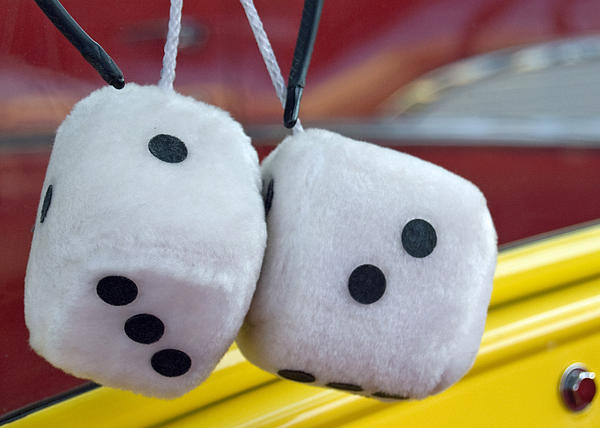 Fuzzy Dice Print by Charlette Miller