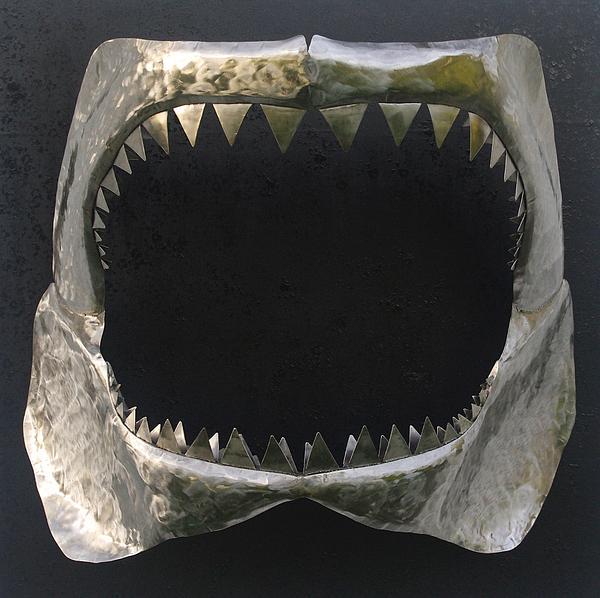 Gaint Shark Jaw Sculpture Print by Stuart Peterman