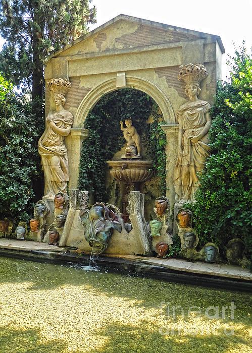 Gala Dali Castle In Pubol Spain Print by Gregory Dyer