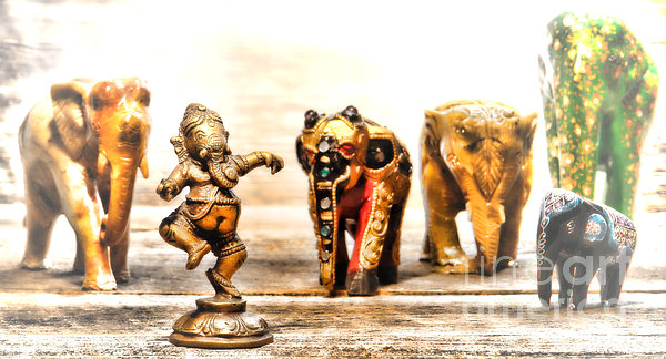 Ganesh Dream Print by Olivier Le Queinec