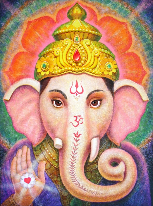Ganesha's Blessing Print by Sue Halstenberg