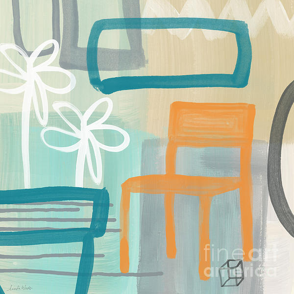 Garden Chair Print by Linda Woods