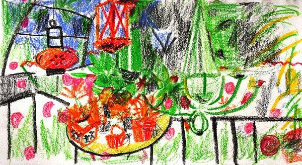 Garden Gala Print by Anita Dale Livaditis