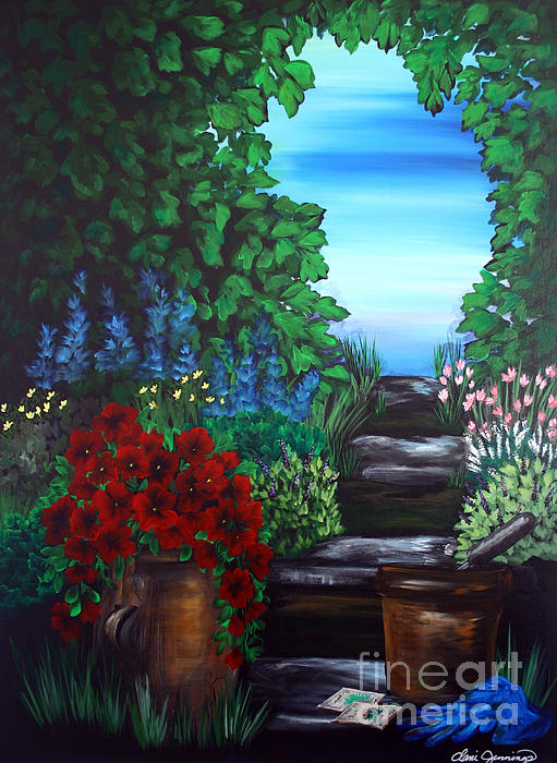 Garden Path Print by Danise Abbott
