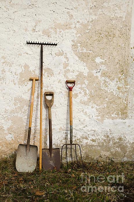 Garden Tools Print by Kennerth and Birgitta Kullman