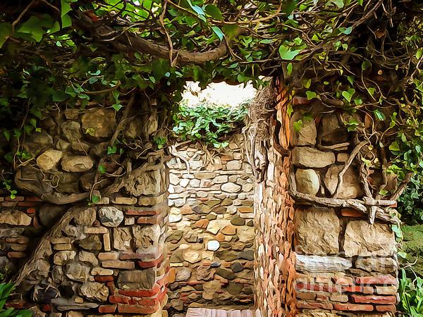 Garden Walls Print by Lutz Baar