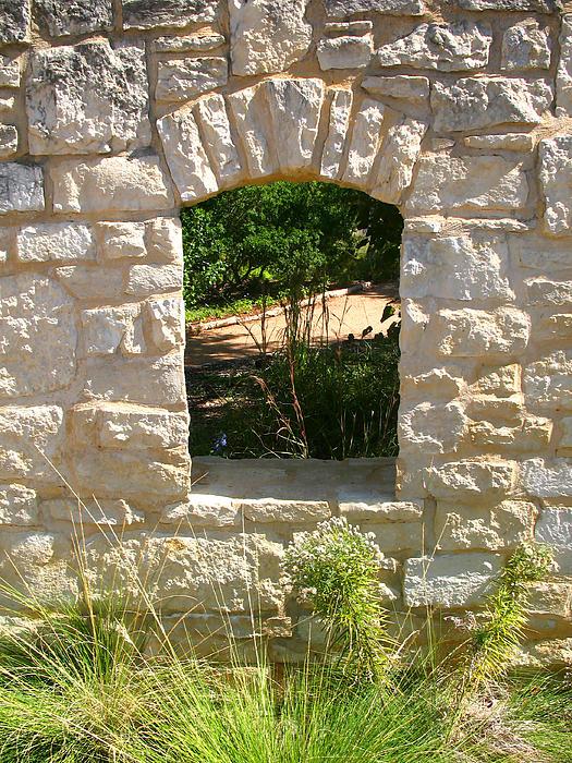 Connie Fox - Garden Window Arch - Wildflower Center Austin