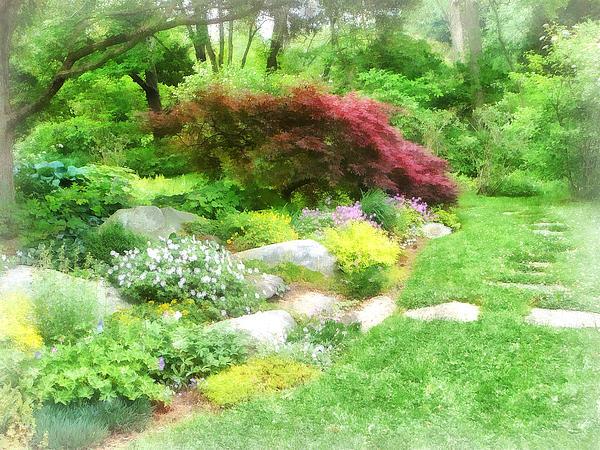 Susan Savad - Garden With Japanese Maple