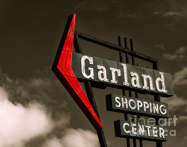 Garland Texas Shopping Print by Sonja Quintero