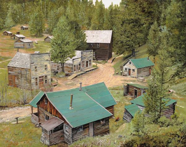 Garnet In Montana Print by Guido Borelli