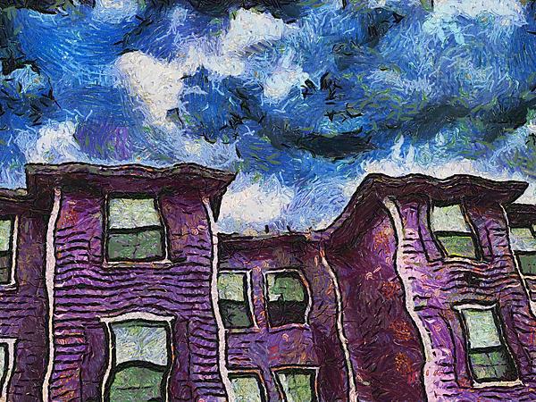 Garret Row Print by Wendy J St Christopher