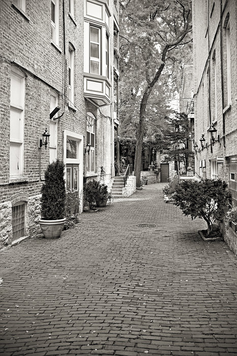 Gaslight Court Chicago Old Town Print by Christine Till