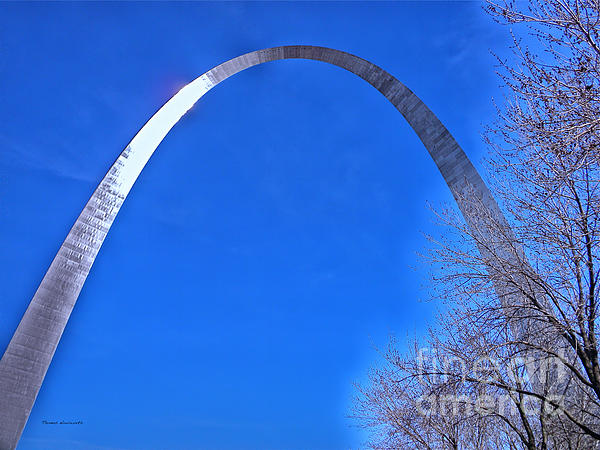 Gateway Arch St Louis 03 Print by Thomas Woolworth