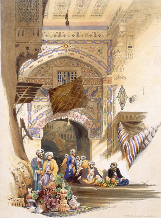 Gateway Of A Bazaar, Grand Cairo, Pub Print by A. Margaretta Burr