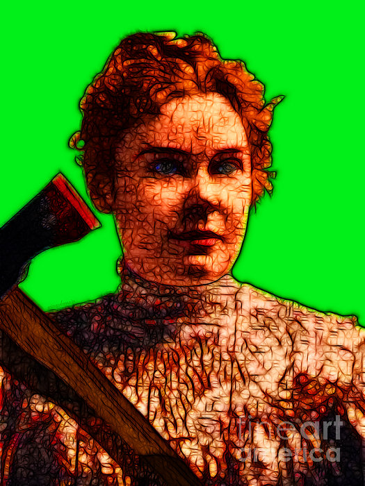 Gave Her Father Forty Whacks - Green Print by Wingsdomain Art and Photography
