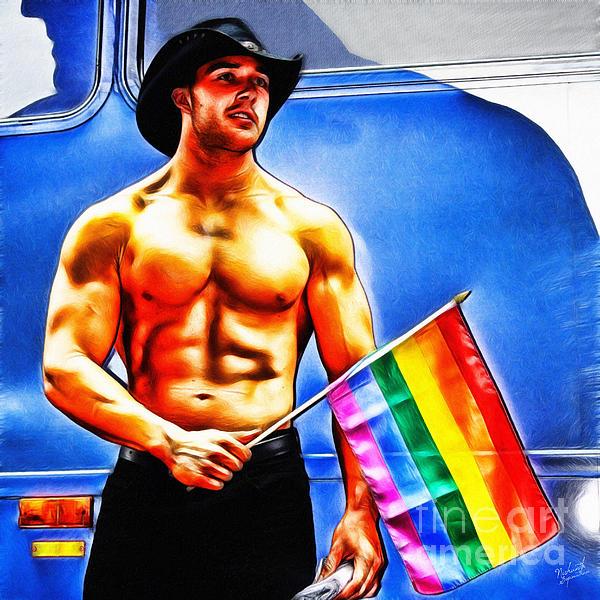 Gay Pride Print by Nishanth Gopinathan