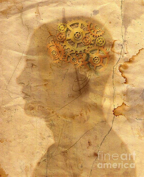 Gears In The Head Print by Michal Boubin
