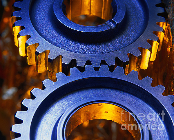 Gears Print by Terry Why