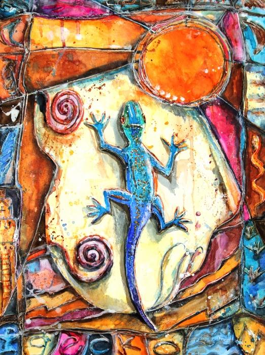 Gecko Print by Patricia Allingham Carlson