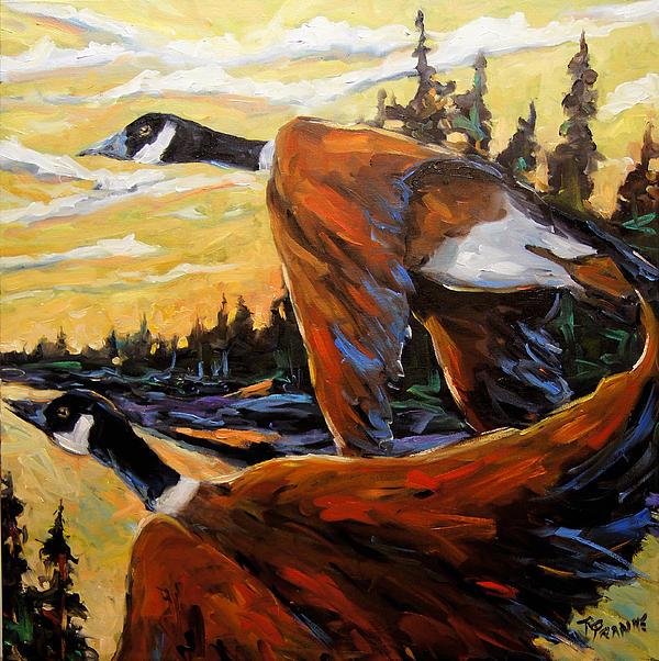 Richard T Pranke - Geese In Flight