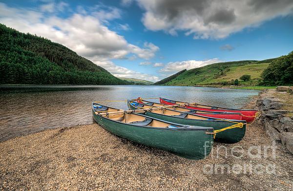 Geirionydd Lake Print by Adrian Evans