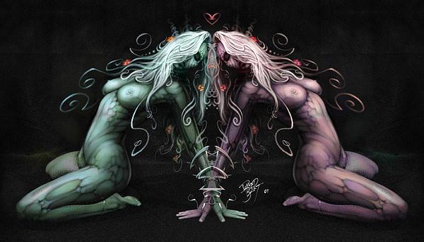 Gemini Heart Print by David Bollt