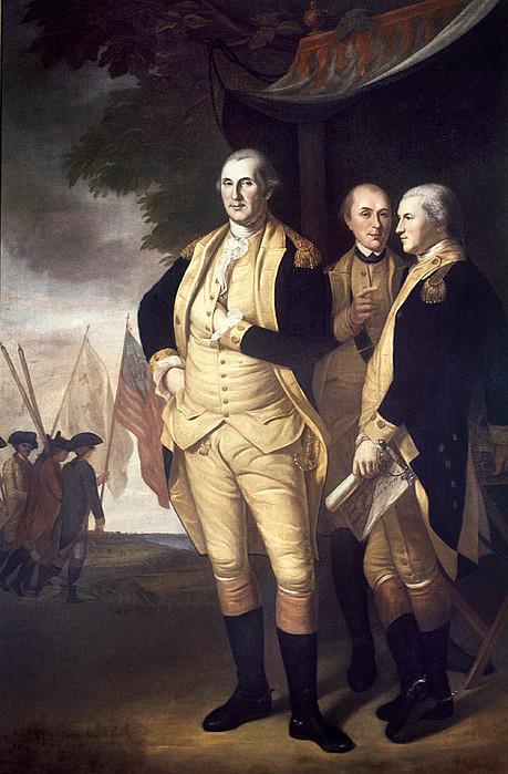 Generals At Yorktown, 1781 Print by Granger