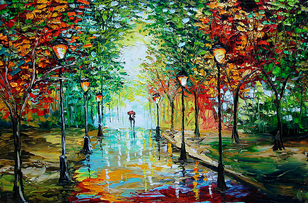 Gentle Rain Print by Beata Sasik
