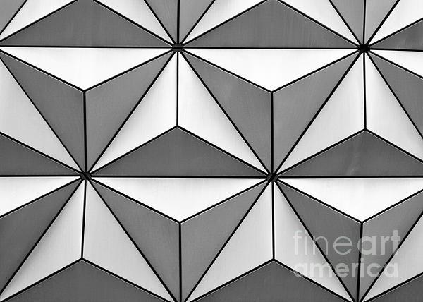 Geodesic Pyramids Print by Sabrina L Ryan