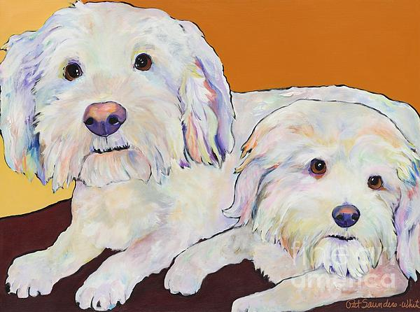 George And Henry Print by Pat Saunders-White