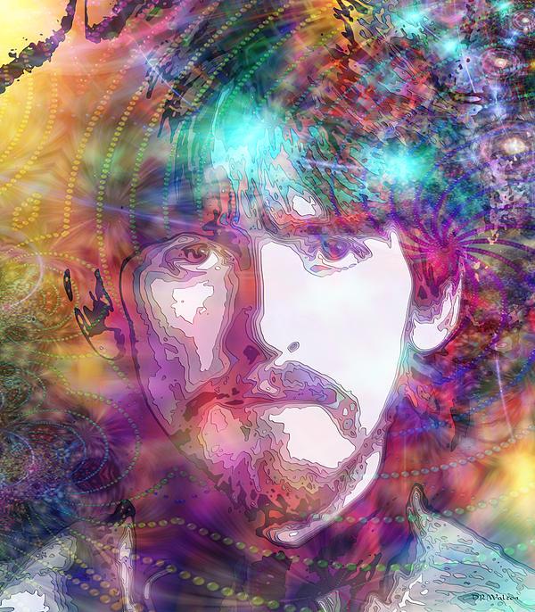 George Harrison Print by D Walton