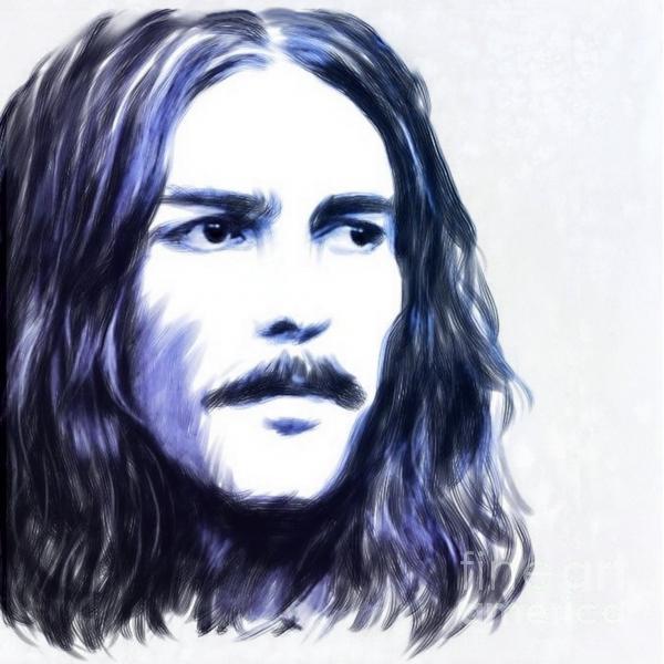 George Harrison Portrait Print by Wu Wei