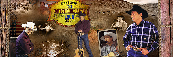 George Strait Cowboy Rides Away Print by Retro Images