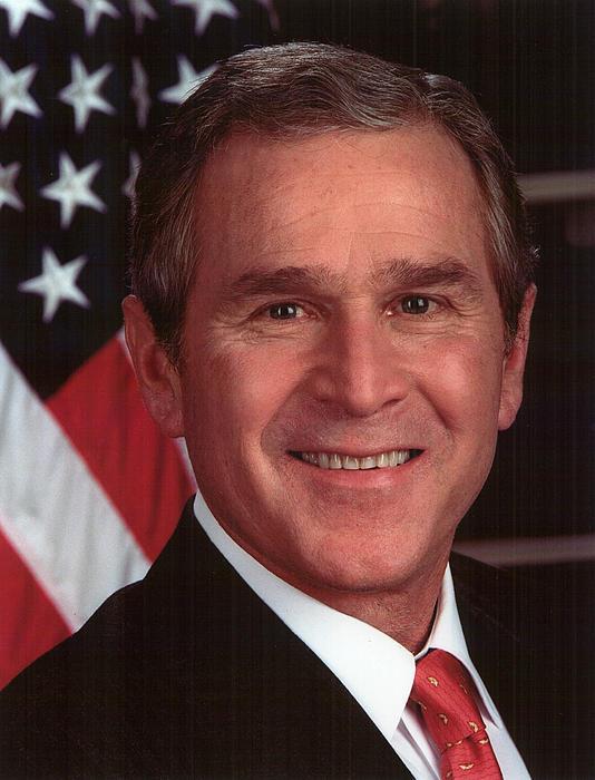 George W Bush Print by Official Gov Files