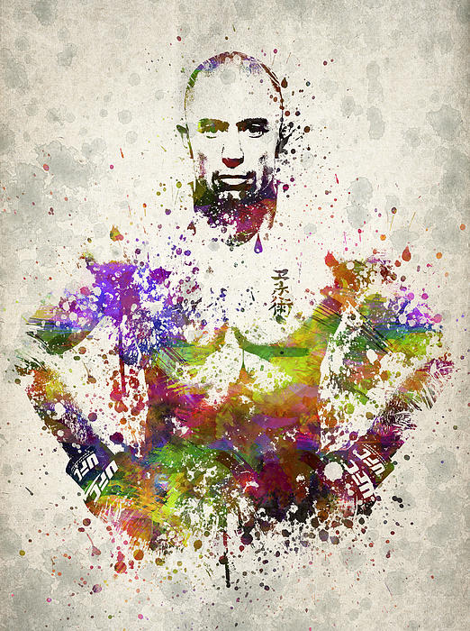 Georges St-pierre Print by Aged Pixel