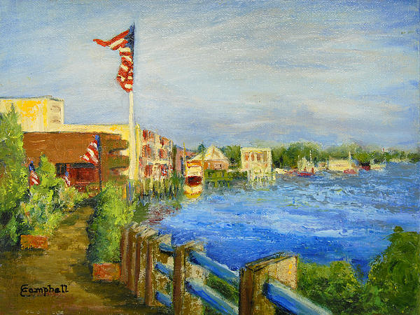 Georgetown Harbor Print by Cecelia Campbell