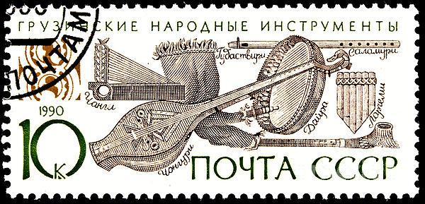 Georgian Folk Music Instruments Print by Jim Pruitt
