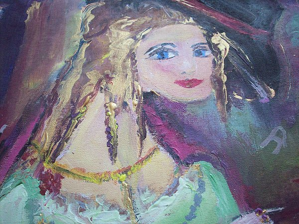Georgiana And The Ring Print by Judith Desrosiers