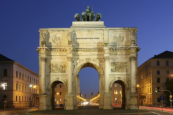Germany Bavaria Munich Siegestor Print by Tips Images
