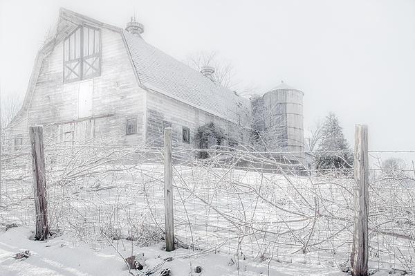 Ghost Barn Print by Bill  Wakeley